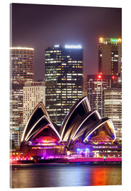 Acrylic print  Sydney Opera house at night - Matteo Colombo