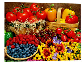 Acrylic print  Fruits And Vegetables - David Chapman