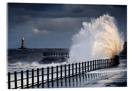 Acrylic print  Waves in Sunderland - John Short