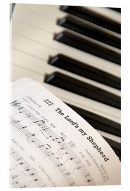 Acrylic print  Sheet music on piano keyboard - John Short
