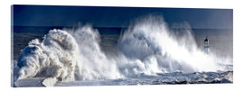 Acrylic print  Waves crashing on lighthouse - John Short