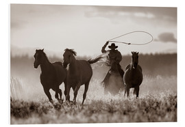 Foam board print  Cowboy of the horses catches - Richard Wear