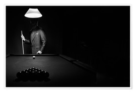 Premium poster  Pool players and billiard balls - Richard Wear