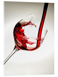 Acrylic glass  Red wine in a glass - Richard Desmarais