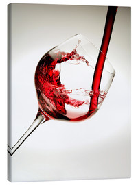 Canvas print  Red wine in a glass - Richard Desmarais