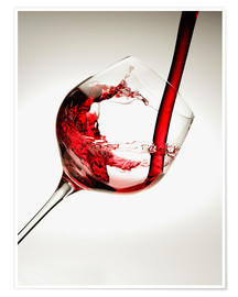 Poster  Red wine in a glass - Richard Desmarais