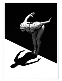 Premium poster  A woman jumps into the water I - Ben Welsh