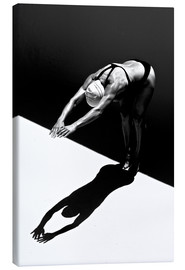 Canvas print  A woman jumps into the water II - Ben Welsh