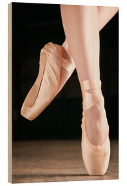 Wood print  Ballet Dancer En Pointe - Don Hammond