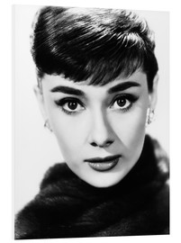 Foam board print  Audrey Hepburn as Sabrina