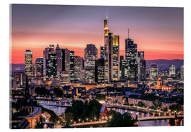 Acrylic print  Skyline Frankfurt am Main Sundown - Frankfurt am Main Sehenswert