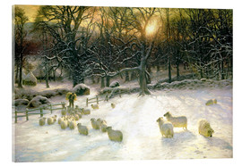 Acrylic print  The Shortening Winter's Day is Near a Close - Joseph Farquharson