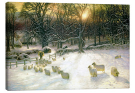 Canvas print  The Shortening Winter's Day is Near a Close - Joseph Farquharson
