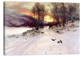 Canvas print  When the West with Evening Glows - Joseph Farquharson