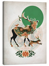 Canvas  stag, bird and hare - Mandy Reinmuth