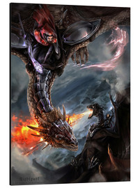 Aluminium print  Dragon Battle - Nightpark