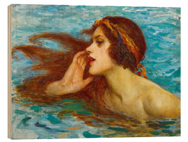Wood print  A little sea maiden - William Henry Margetson