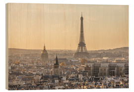 Wood  Paris in the evening light - Matteo Colombo