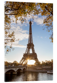 Acrylic print  Jena bridge and Eiffel tower in autumn, Paris, France - Matteo Colombo