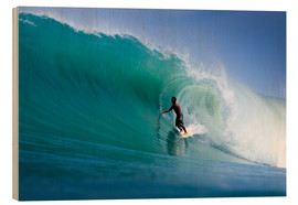 Wood print  Surfing the dream wave - Paul Kennedy
