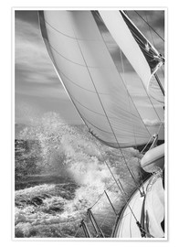 Jan Schuler - Sailing black / white
