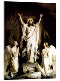 Acrylic glass  The Resurrection - Carl Bloch