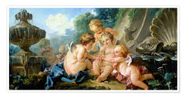 Premium poster  Angels in the Game - François Boucher
