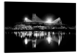Acrylic glass  Weserstadion black and white - Tanja Arnold Photography