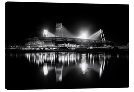 Canvas  Weserstadion, Bremen in black and white - Tanja Arnold Photography