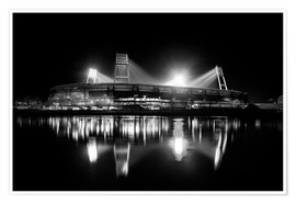 Poster  Weserstadion, Bremen in black and white - Tanja Arnold Photography