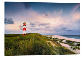 Acrylic print  Lighthouse in the morning light (Sylt / Elbow / List East) - Dirk Wiemer