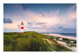 Premium poster Lighthouse in the morning light (Sylt / Elbow / List East)