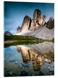 Acrylic glass  Majestic Three Peaks (Tre Cime di Lavaredo) mountains in the Dolomites, Italy - Matteo Colombo