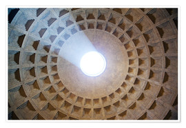 Premium poster  Ceiling of the Pantheon temple, Rome - Matteo Colombo