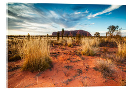 Acrylic print  Red Desert at Ayers Rock - Matteo Colombo