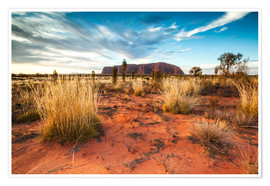 Premium poster Red Desert at Ayers Rock