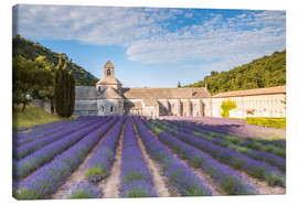 Canvas  Famous Senanque abbey with lavender field, Provence, France - Matteo Colombo