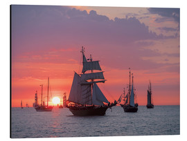 Aluminium print  Sailing ships on the Baltic Sea in the evening - Rico Ködder