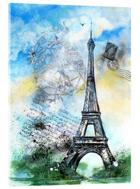 Acrylic print  Memory of Paris - Jitka Krause