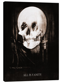 Canvas print  All is vanity (Sepia) - Charles Allan Gilbert
