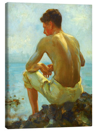 Canvas print  Rowing in the shade - Henry Scott Tuke