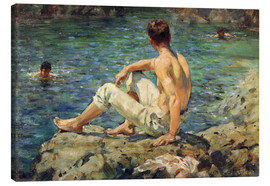 Canvas print  Green and Gold - Henry Scott Tuke