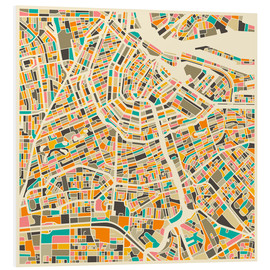 Forex  Amsterdam Map - Jazzberry Blue