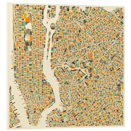 Jazzberry Blue - New York City Map