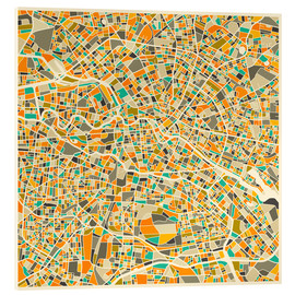 Acrylic print  Map of Berlin - Jazzberry Blue