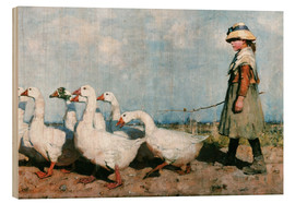Wood print  To pastures new - Sir James Guthrie