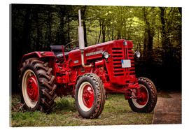 Acrylic print  McCormick tractor Oldtimer - Peter Roder