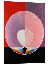 Foam board print  The Dove, No. 2 - Hilma af Klint