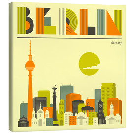 Canvas print  Skyline of Berlin - Jazzberry Blue