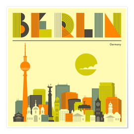 Premium poster  Skyline of Berlin - Jazzberry Blue